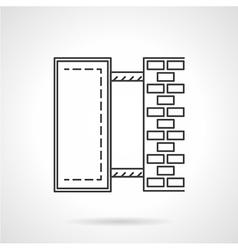 Wall lightbox line icon vector image vector image