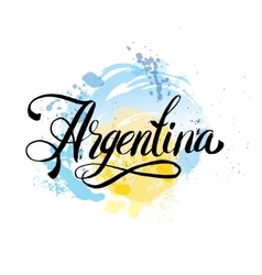 Argentina vintage card - vector image vector image