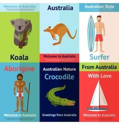 Australia Mini Poster Set vector image