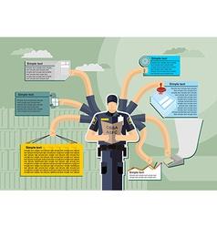 infographic Canada Border Services Agency CBSA vector image vector image
