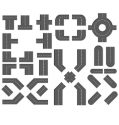 map design elements vector image vector image