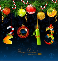 Numbers of new year vector