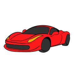 red car icon cartoon vector image