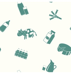 Seamless pattern with milk icons vector image vector image