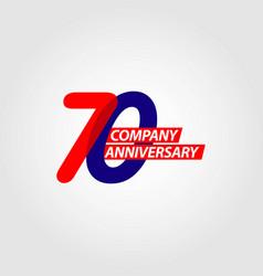 70 year company anniversary template design vector