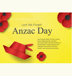 abstract background with hat and flower for anzac vector image