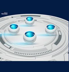 abstract futuristic eyeball on circuit board high vector image