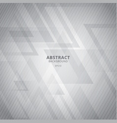 abstract white and gray geometric triangles vector image