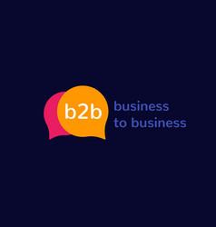 B2b business to business logo design vector