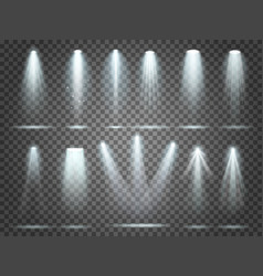beam of floodlight illuminators lights stage vector image