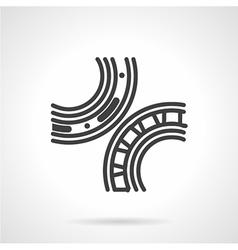 Bearings mechanism black line icon vector image