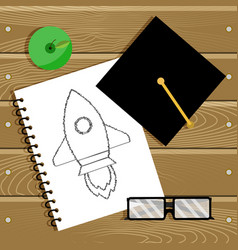 Begin education and start career vector
