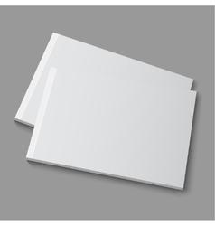 Blank empty magazine album or book vector image