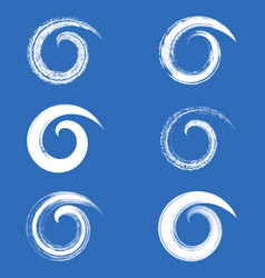 brush strokes spirals vector image