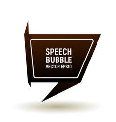 bubble speech brown vector image