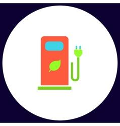 Car charging station computer symbol vector