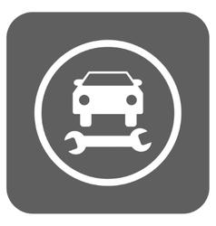 Car repair flat squared icon vector