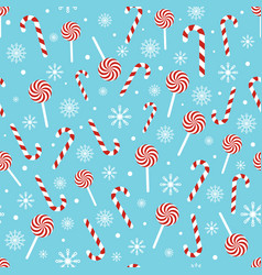 christmas seamless pattern with candy canes vector image