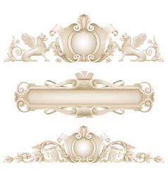 Classic architectural facade decor vector