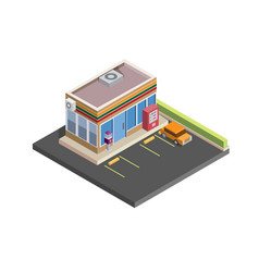convenience store isometric vector image