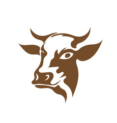 Cow head animal icons logo designs vector