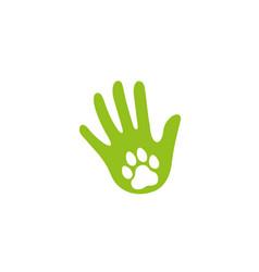 creative abstract human lamp dog footprint logo vector image