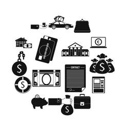 credit set icons vector image