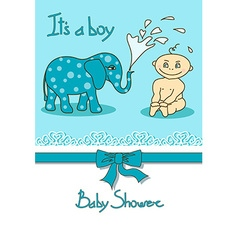 Cute Baby Shower card vector