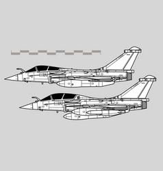 dassault rafale vector image