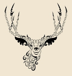 Deer head ornament vector image