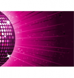 disco ball background vector image