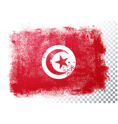 distressed grunge flag tunisia vector image