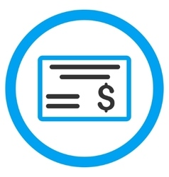 Dollar Cheque Rounded Icon vector