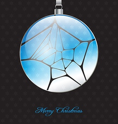 Elegant christmas background with glossy christmas vector
