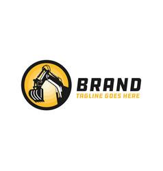 Excavator tool repair logo vector