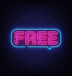 free neon text free neon sign design vector image