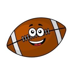 fun happy football or rugball vector image
