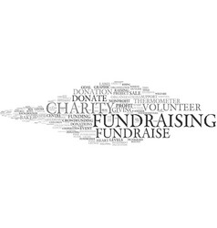 Fundraise word cloud concept vector