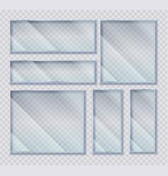 glass plates set acrylic frames banners on vector image