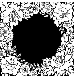 Graphic floral design vector