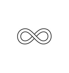 infinite infinity line icon simple modern flat vector image