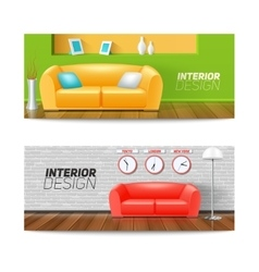 Interior Banners Set vector image