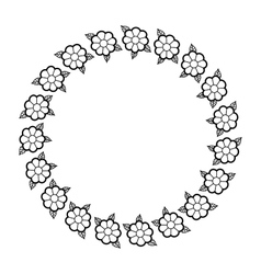 Isolated flowers crown decoration design vector