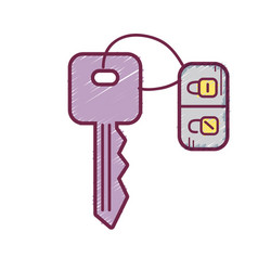 Key door to security and protection design vector