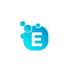 letter e bubble logo template or icon vector image