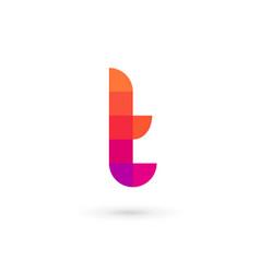 letter t mosaic logo icon design template elements vector image