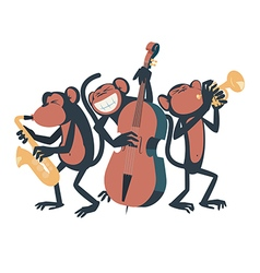 Monkey Jazz Trio vector image