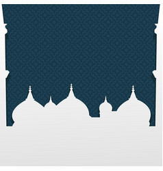 mosque islamic celebration design element vector image