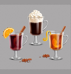 Mulled wine grog irish coffee vector