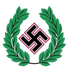 Nazi germany icon with wreath vector